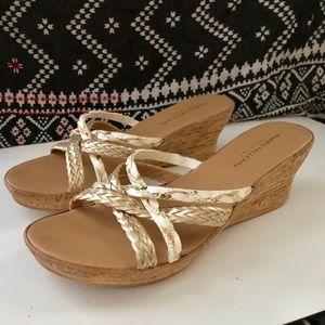 Marzia Vellutini Cork Wedge Mule Sandals 8.5
